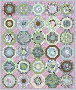 Peacocks Building Nests Quilt