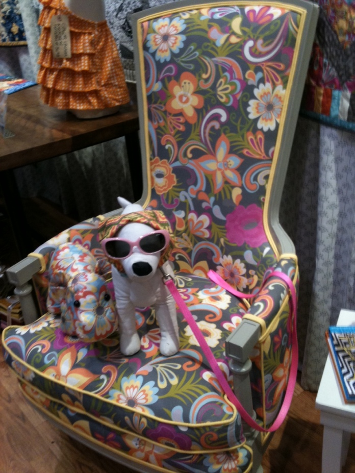 Cabana Blooms Chair and Dog 2