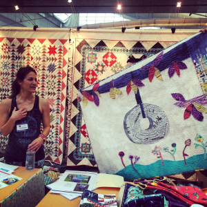 Carrie Bloomston shows her Paint Quilts
