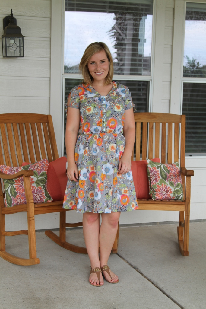 "Clara Dress by Sew Liberated featuring Kelly Ventura's ""Flora"" collection"