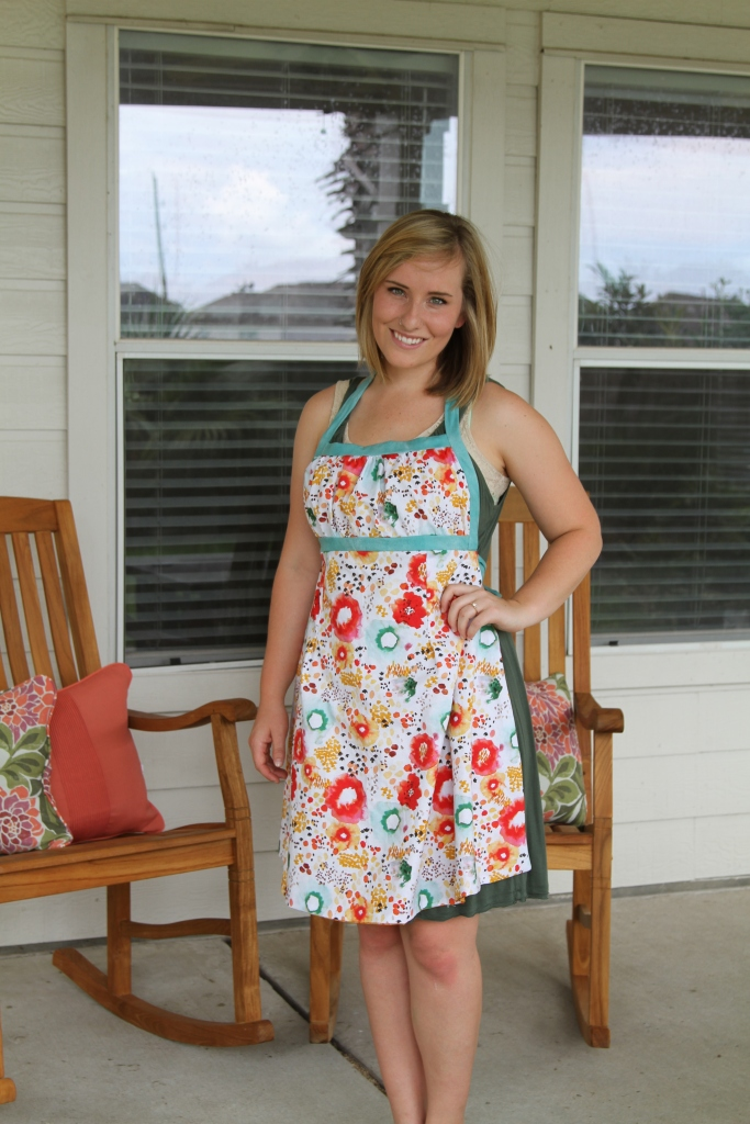"Reversible Emmeline Apron by Sew Liberated featuring Kelly Ventura's ""Flora"""