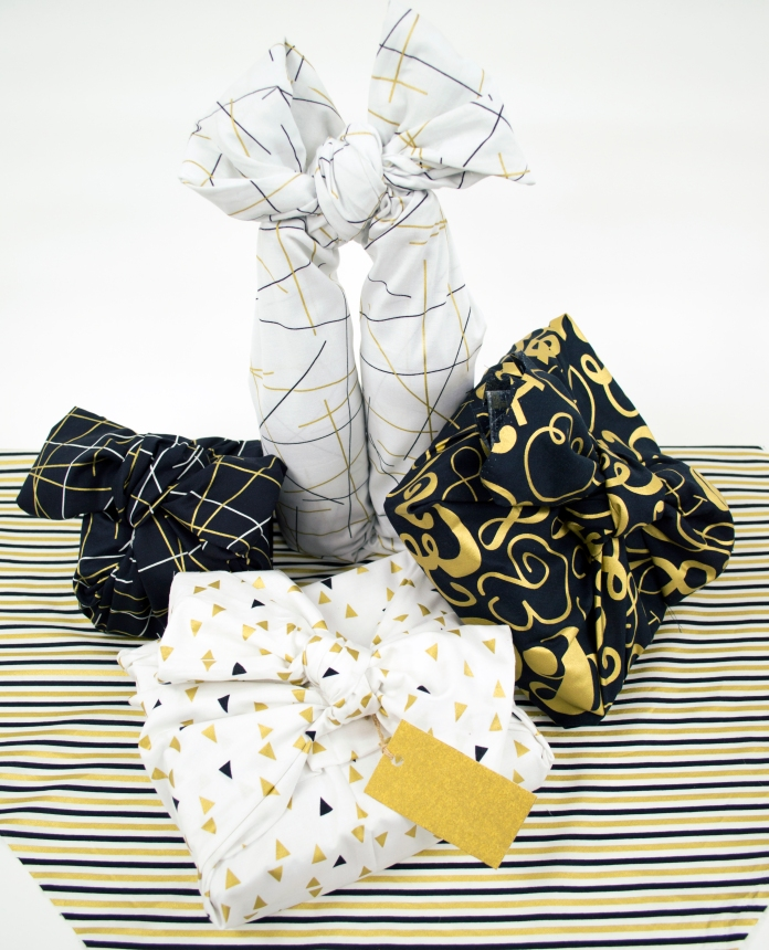 Bold and Gold Wrapped gifts