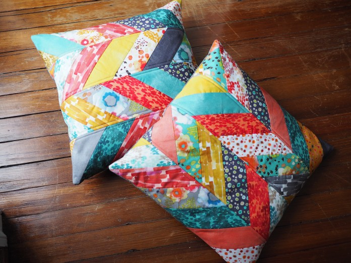 Flora Herringbone Pillows