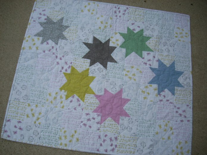 Stars for Stella quilt by Brooke of Silly Mama Quilts