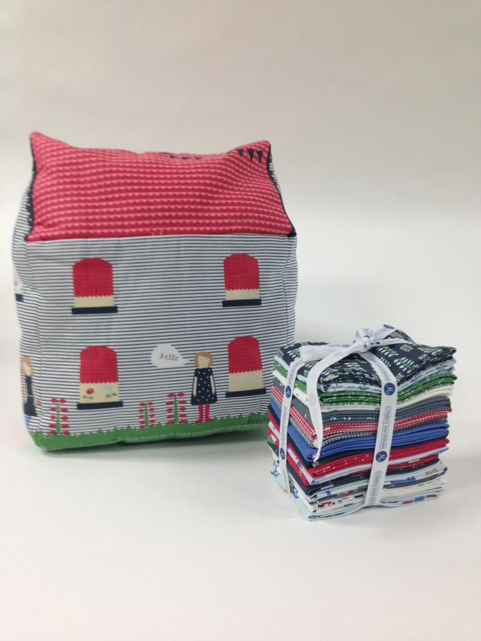 Neighborhood by Alyson Beaton House Pillow and Fat Quarter Bundle